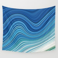 WAVES Wall Tapestry by LEMAT WORKS