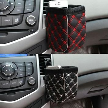 Hot Car-styling Worldwide Car Storage Pocket Organizer Bag For Mobile Phone Holder Auto Pouch Adhesive Visor Box Car Accessories