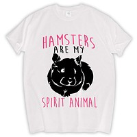 Hamsters Are My Spirit Animal men t shirt new summer fashion luxury tee shirt hip-hop funny cotton t-shirt home