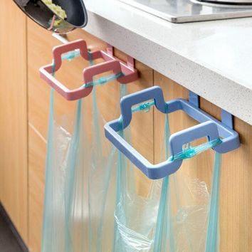 Trash Bag and Wipes Holder Wipers Rack Kitchen Cupboard Hanger Shelf Over Door Rack Bar