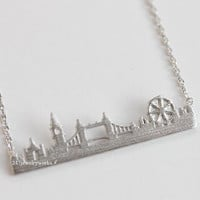 london necklace, london, london skyline, city necklace, city scape necklace, skyline, skyline necklace