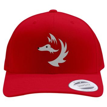 Fox Face Embroidered Retro Embroidered Trucker Hat