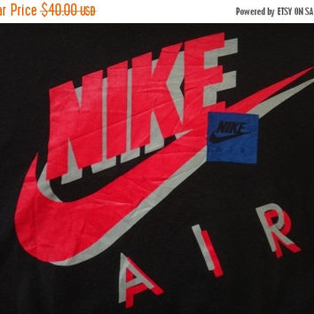 New Year Sale Vintage NIKE AIR Sweater Jumper Jordan NBA Big Logo Hip Hop Swoosh 1990s Tennis Baseball Nice Design