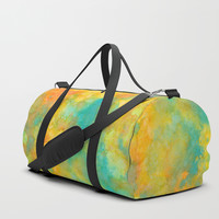 Ink Play - Abstract 01 Duffle Bag by vivigonzalezart