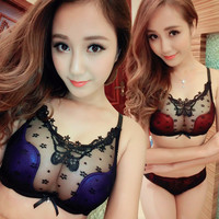 lace brand sexy gather push up bra
