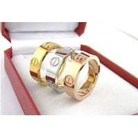 """Cartier"" Popular Unisex Cute Couple Rings Women Men Ring Rhinestone Ring Rn I"