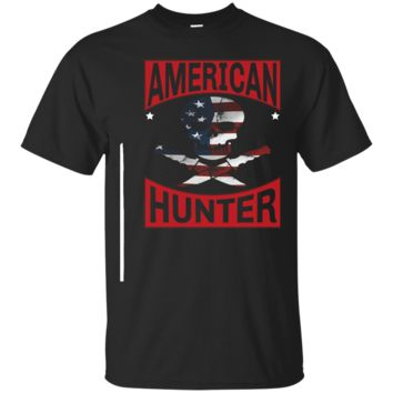 American Hunter Shirt with Skull and American Flag Hunting