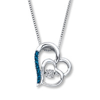 Diamonds in Rhythm 1/15 ct tw Necklace Sterling Silver Heart