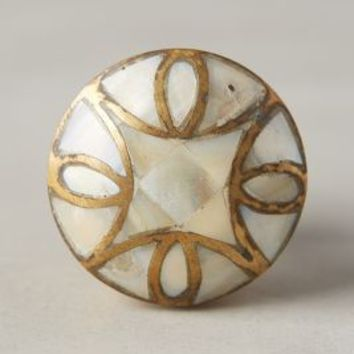 Mother-Of-Pearl Knob by Anthropologie in White Size: Circle Knobs