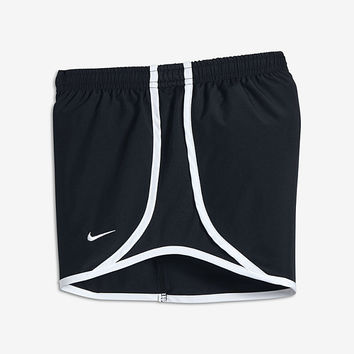 "The Nike Tempo Big Kids (Girls') 3.5"" Running Shorts (XS-XL)."