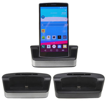 BrankBass Dual Sync Phone Battery Charger Cradle Dock Station Stand + OTG Function + USB Cable For LG G4