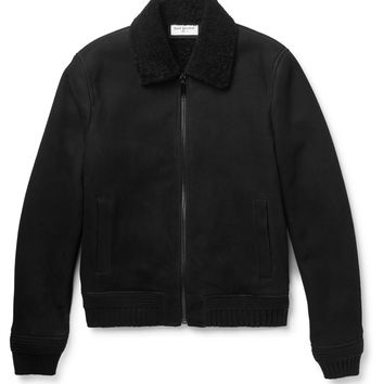Saint Laurent - Shearling Bomber Jacket