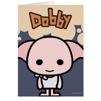 Dobby Cartoon Character Art Card