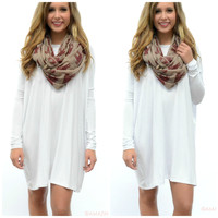 Ellington White Piko Dress