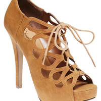 Lace-Up Loop Cutout Heels | Wet Seal