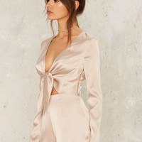 Sleek Havoc Satin Romper