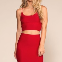 High Life Pencil Skirt - Red