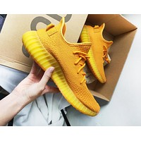 NIKE 350 Yeezy Fashion New Sports Leisure Running Couple Shoes Orange