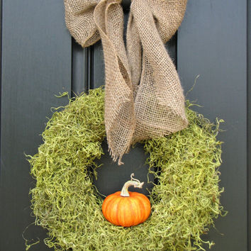 It's The GREAT Pumpkin Wreath with Burlap Bow  by twoinspireyou