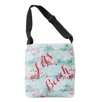 Retro Boho Beach Themed Tote Bag Design #2