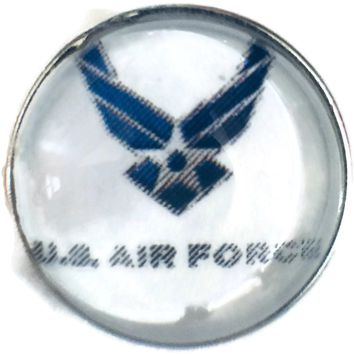 US Military Air Force Wings 18MM - 20MM Fashion Snap Jewelry Snap Charm New Item