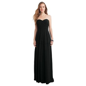 Bill Levkoff 1121 Strapless Chiffon Floor Length Bridesmaid Dress