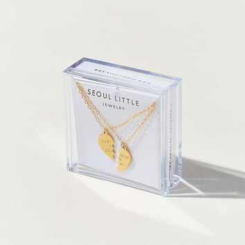 Seoul Little 14K & 24K Gold Plated Partners in Crime Friendship Necklace Set | Urban Outfitters