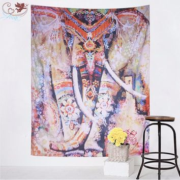 Elephant Tapestry Decorative Colorful Tapestry Decoration for Home Indian Bohemian Wall Carpet130cmx150cm 153cmx203cm
