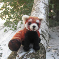 Firefox needle felted red panda