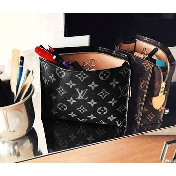 LV Hot Selling Fashion Business Documents Handbag Briefcase for Men and Women LV pattern black