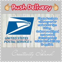 Rush Delivery Add On.