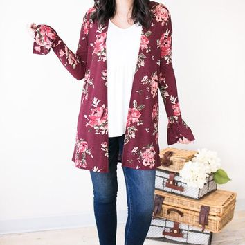 Ring The Bells Floral Cardigan