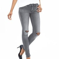 Banana Republic Womens Destroyed Gray Skinny Jean
