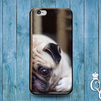 iPhone 4 4s 5 5s 5c 6 6s plus iPod Touch 4th 5th 6th Generation Cute Funny Puppy Dog Pet Pug Sad Face Cool Phone Cover Girl Boy Friend Case