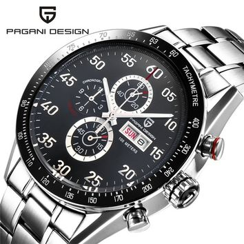 Watches Men Luxury Brand Multifunction PAGANI DESIGN Quartz Men Sport Wristwatch Dive 100m Military Watch Relogio Masculino