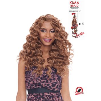 "KIMA BRAID - OCEAN WAVE 14"" CROCHET BRAID - 4 PACK DEAL - KOW14"