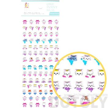 Tiny Kitty Cat Ballerina Shaped Puffy Stickers for Scrapbooking