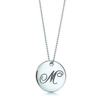 "Tiffany & Co. - Tiffany Notes®:Letter ""M"" Round Pendant"