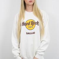 Vintage Hard Rock Cafe Dallas Crew Neck Sweatshirt