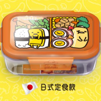 Sanrio Gudetama 7-11 Limited Japan Square Ver 600ml Microwaveable Glass Bowl