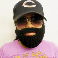 Black Crochet Beard, Super Fan, Made To Order