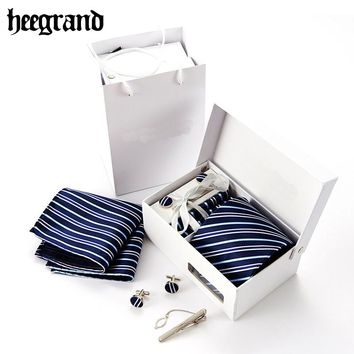 Men's- Necktie- With Matching Cufflink And Tie Clip Box Set. 12 Sets To Choose From.