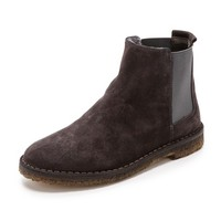 Vince Cody Suede Booties with Shearling Lining