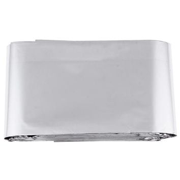 Outdoor Thin Emergency Life-saving Blanket 2100 x 1300 x 1mm Travel Survival Rescue Curtain Silver