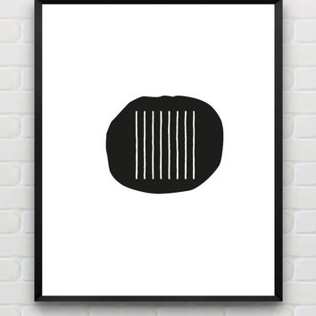 Instant Download, abstract geometric wall art, scandinavian black and white print, modern home decor, minimalist wall art