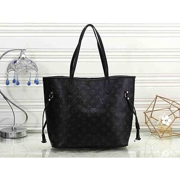 LV Hot-selling Printed Women's Single Shoulder Bag Black