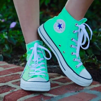 mint green converse high tops - sochim.com 8d3dc34163