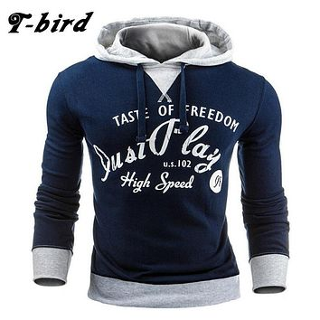 T bird 2017 Hoodie Men Letter Print Hoodie Men's Sweatshirt Hip Hop Hoodies Pullover Fashion Male Brand Cotton Winter Sportswear