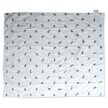 Nate Berkus™ White and Black Quilted Throw