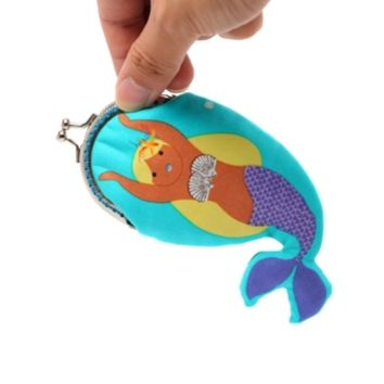 Supermarket: Dancing mermaid little coin purse from Misala Handmade Bags & Purses